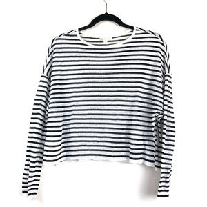 Eileen Fisher Linen Blend Striped knit Sweater PS
